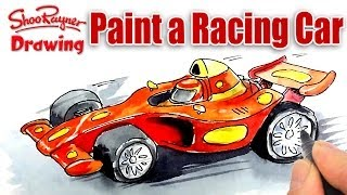 How to paint a Formula One Racing Car - Spoken Tutorial
