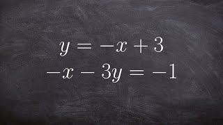 Learn how to solve a system of equations by graphing Solution 4, 1