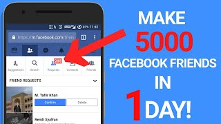 Get 5000 Facebook Friend Requests In One Day! | Facebook Auto Friend Requests