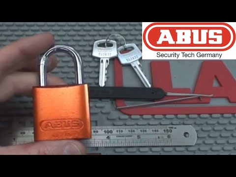 (42) Abus 72/40 Padlock Picked Open and Gutted