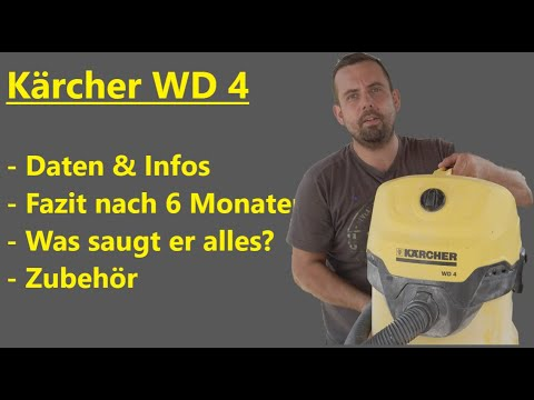 Kärcher WD4 | Mehrzwecksauger | Nass- und Trockensauger | Fazit nach 6 Monaten | Review Deutsch
