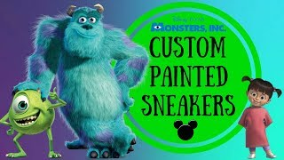 Custom Hand Painted Shoes | Monsters Inc. From Disney | Pixar Disney Movie ✨| Kimberly Gomez