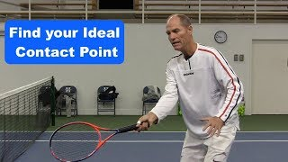 Tennis Instruction: Find The Ideal Contact Point And Take Your Game To The Next Level
