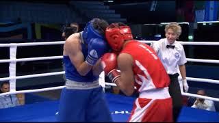 Казахстанский боксер побил узбека и вышел в финал МЧМ-2018