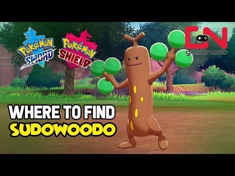 Where to find Sudowoodo - Pokemon Sword and Shield Wild Sudowoodo Location