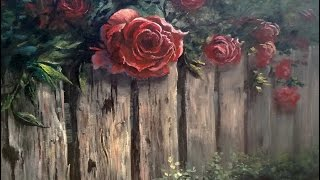 Rosas sobre a cerca