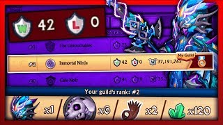 Knights and Dragons - FIRST EVER WAR HOSTED: UNDEFEATED TOP 2 PUSH!! Leveling Crackling Wyrmslayer+