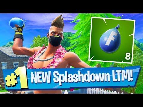 NEW Splashdown Squads LTM Gameplay - Fortnite Battle Royale (14 Days Of Summer)