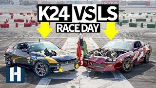 Build & Battle 3: FINALE - K24 Powered 350Z vs LS Camaro Gymkhana GRID $10,000 build Faceoff! EP.8