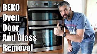 So entfernen Sie eine BEKO Ofentür und entfernen das Ofentürglas