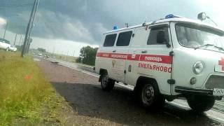 Авария на трассе м53 в районе посёлка Емельяново