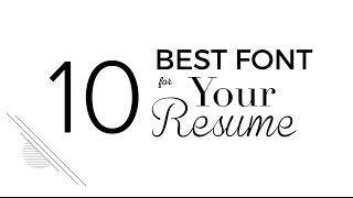 10 Best Font for Your Resume