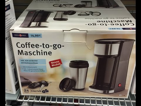 Rossmann Ideen Welt Coffee-to-go-Maschine (Unboxing)