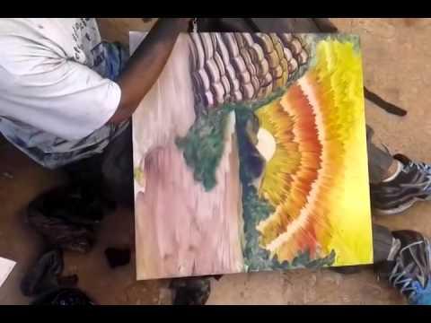 Vẽ tranh sơn dầu không cần bút