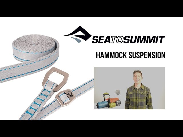 Видео Стропа для гамака Sea to Summit Hammock Pro Suspension Straps Grey
