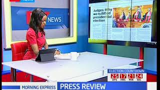 Judges: Why we nullified the presidential elections, Press Review