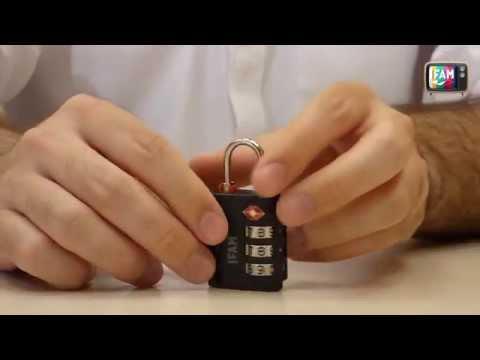 Cómo programar el candado de combinación TSA de IFAM TrypLock35