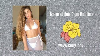 VOLUME FOR NATURAL LONG HAIR! CURLY/WAVY HAIR ROUTINE!