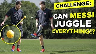 LIONEL MESSI JUGGLING CHALLENGE | testing Messi's skills