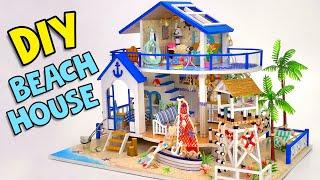 DIY Miniature Beach House By The Sea🏝