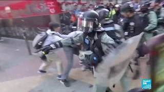 Hong Kong protests: clashes break out between police and demonstrators over Christmas holidays