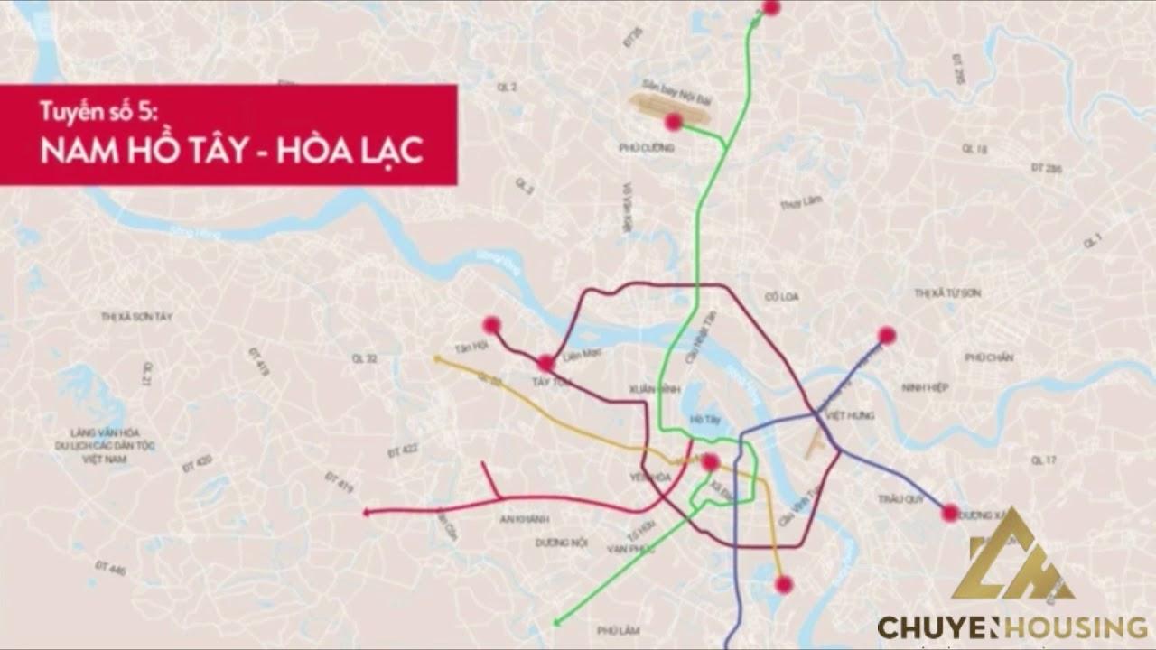 8 Tuyến đường metro tại hà nội
