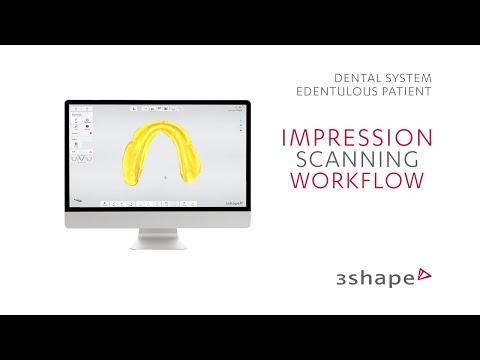 3Shape TRIOS Edentulous patient - Impression scanning workflow