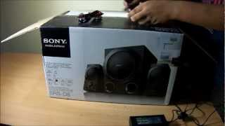 Sony SRS-D8 2.1 Channel 60 Watts Active Speaker System Unboxing And Sound Test