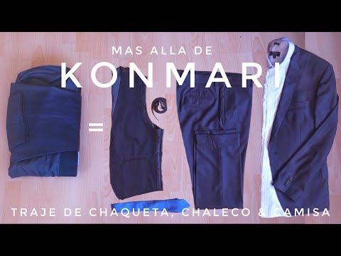 Cómo doblar Trajes de Chaqueta + Camisa + chaleco | más allá del Método KonMari por Marie Kondo