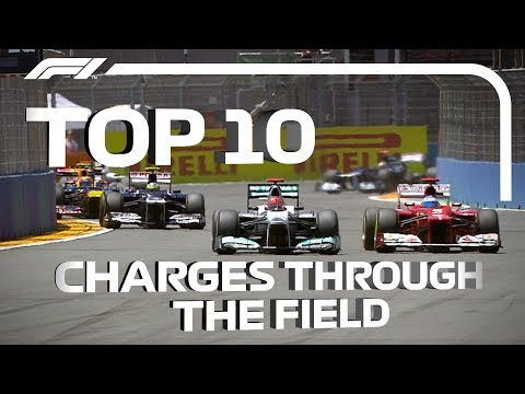 F1: The Top 10 Charges Through The Field