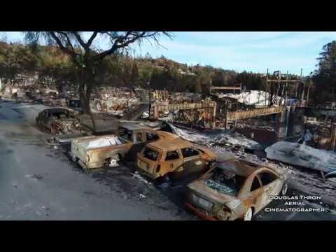 Santa Rosa Fires - NOVEMBER 24 -  1 Min News Clip - Drone Video by Douglas Thron Fountaingrove Tubbs