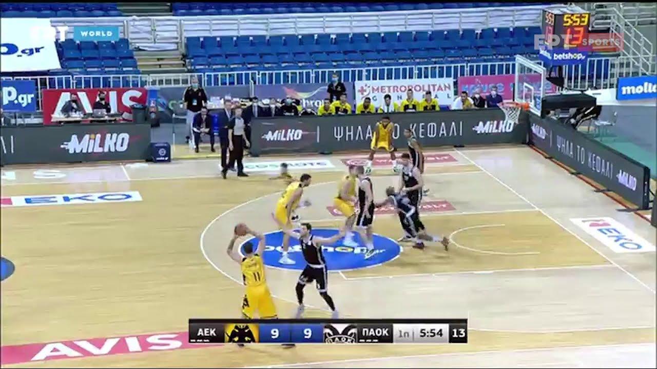 Basket League: ΑΕΚ – ΠΑΟΚ 85-84 | HIGHLIGHTS | 05/12/2020 | ΕΡΤ