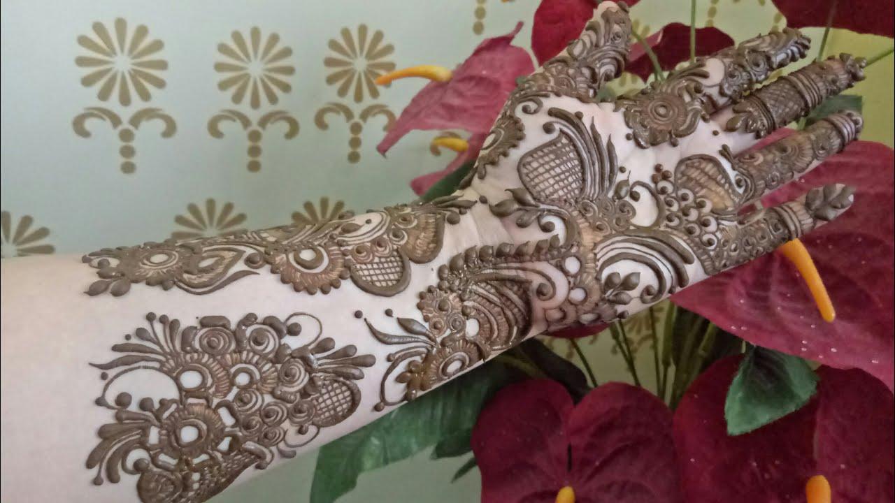 Video Indo Arabic Mehndi Design Henna Design For Ramazan Eid 2017