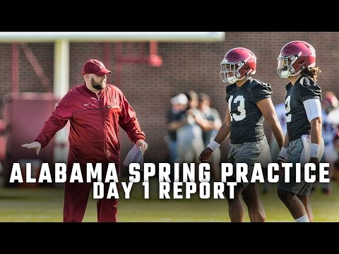 Biggest storylines from Alabama's first day of spring practice