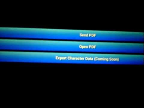 Video of PF Char Sheet Generator - Lite