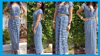 Fashion DIY How To Make Easy Maxi Dress/ Long Dress DamaV425