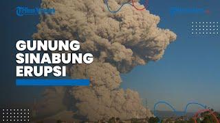 Gunung Sinabung Erupsi, Tinggi Kolom Abu Mencapai Setinggi 5000 Meter