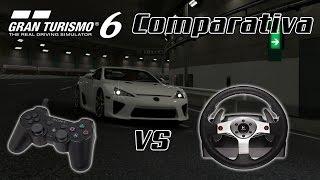 Gran Turismo 6 - Comparativa VOLANTE vs MANDO