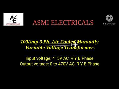 Air Cooled Motorized Variable Transformer