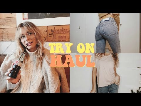 WINTER TRY ON HAUL (Reformation Jeans, Re/Done, Everlane) | Conscious Shopping