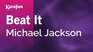 Karaoke Beat It - Michael Jackson *