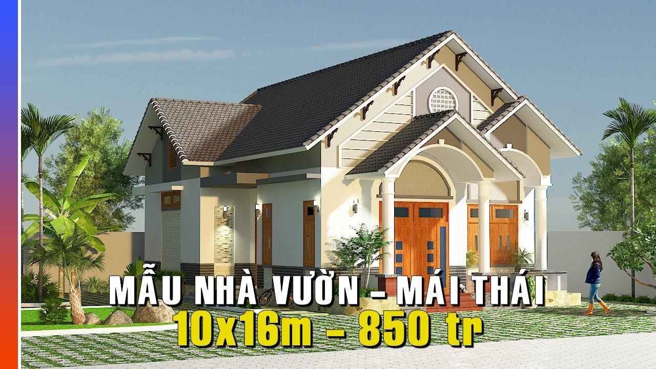 Chi Tiết Mẫu Biệt thự vườn - Mái Thái 10x16 Chỉ 850 triệu