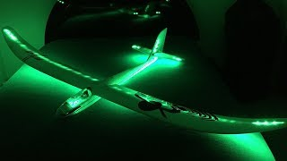 E-flite Night Radian RC Glider - Flite Test 2M Glow In The Dark Powered Sailplane Unboxing & Review