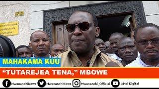 VIDEO: Mbowe: Maombi ya Lissu yamekataliwa, tunajipanga tutarejea mahakamani