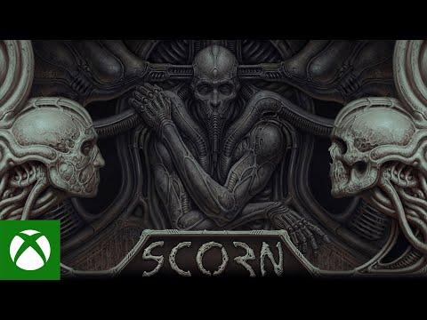 《Scorn》14分鐘實機演示 恐怖氣氛、武器。場景、敵人、解謎要素