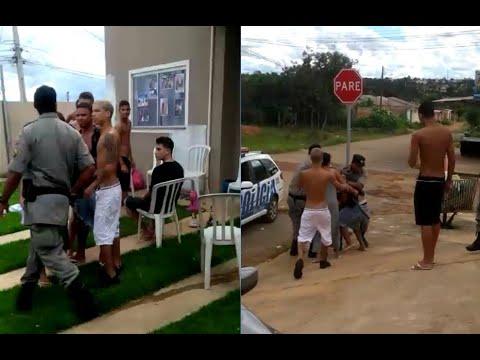 Pancadaria durante ocorrência da Polícia Militar no entorno de Brasília