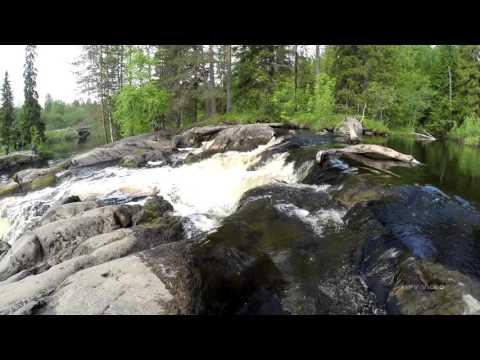 Водопад на реке Тохмайоки / Карелия путешествия туризм