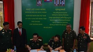 Bộ Quốc phòng Việt Nam chuyển giao hệ thống kết nối y học từ xa cho bệnh viện Camphuchia