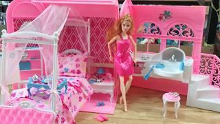 Vali đồ chơi | phòng ngủ , phòng tắm , bàn trang điểm của búp bê barbie