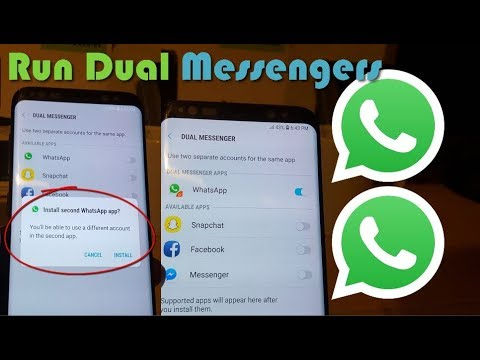 Install Dual Messengers Galaxy S9,S8 For Whatsapp,Snapchat,Facebook Mp3